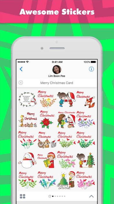 Merry Christmas Card Stickers review screenshots
