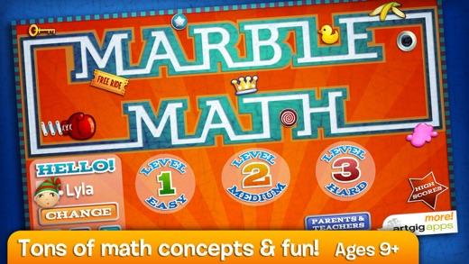 Marble Math Screenshots