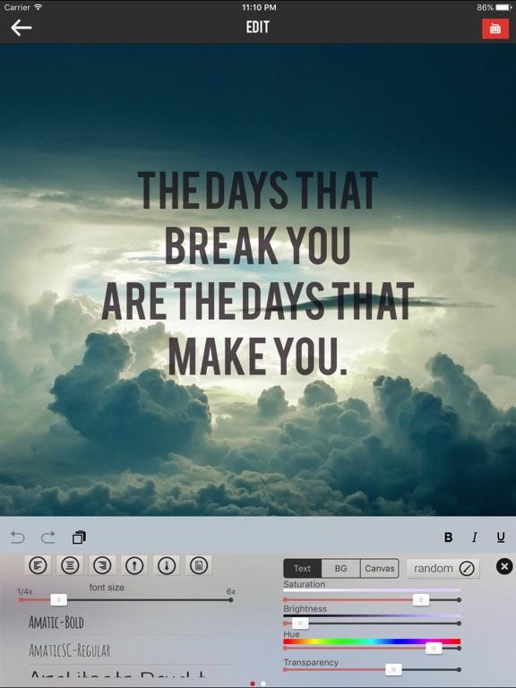 Textograph Pro+ 100 Best Fonts Screenshots