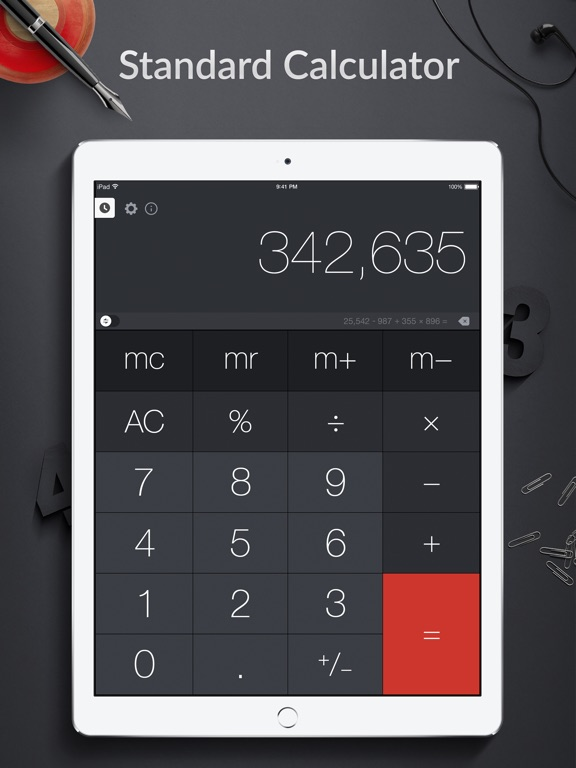 Screenshot #1 for Calculator Pro+ for iPad