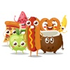 200 Animated Food Stickers