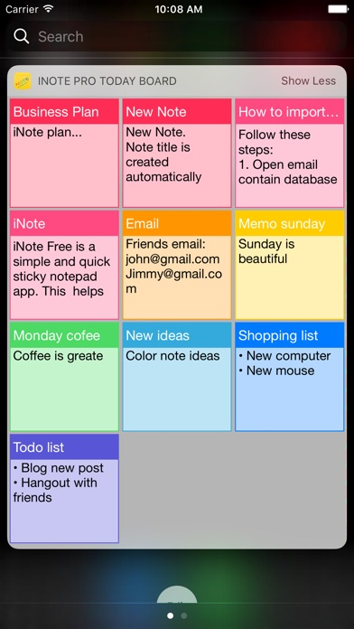 Download iNote - Sticky Note by Color App