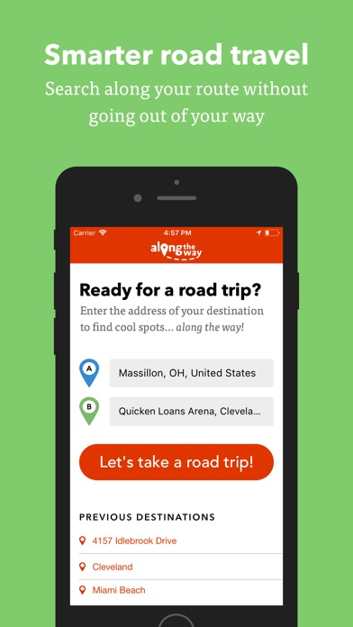 Along the Way - Route Search Screenshot
