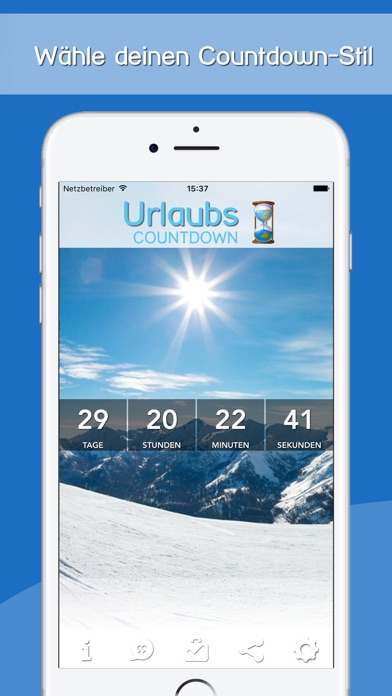 urlaubs countdown im app store. Black Bedroom Furniture Sets. Home Design Ideas