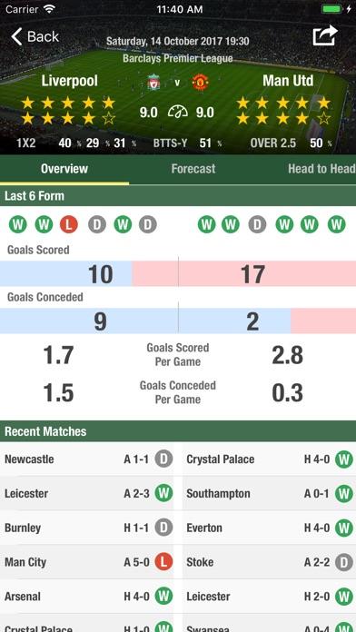 Football Forecast App Скриншоты5