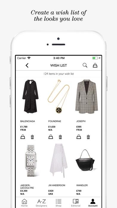 NET-A-PORTER: Designer Fashion Скриншоты6