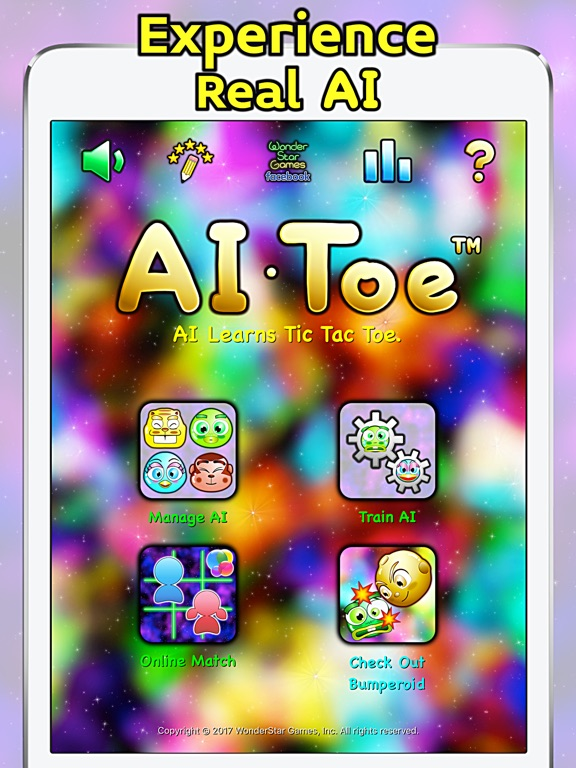 AI Toe - AI Learns Tic Tac Toe Screenshots