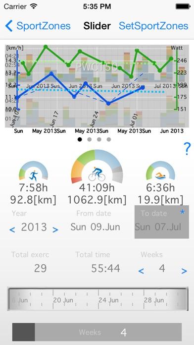 Screenshot of SportZones6 - PolarFlow Garmin App