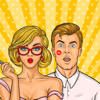 download New Retro Generation Stickers – Guy & Girl