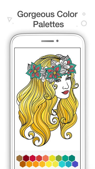 iphone screenshot 3 - Coloring Book App For Adults