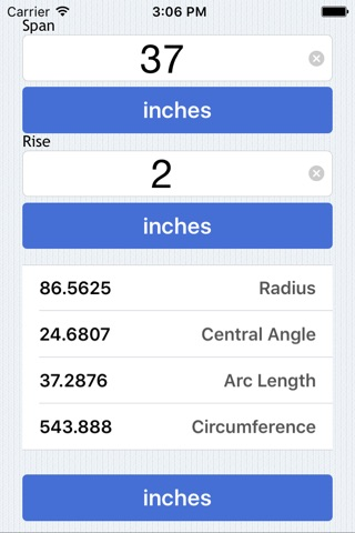 Radius Calculator screenshot 1
