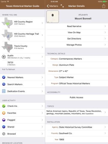 Texas Historical Marker Guide screenshot 3