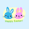 download Easter Bunny & Egg Stickers