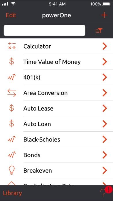 powerOne Finance Calculator - Pro Edition Screenshot 4