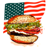 download American Fast Food sticker pack