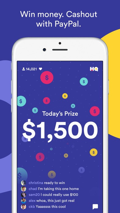 Screenshots of HQ - Live Trivia Game Show for iPhone