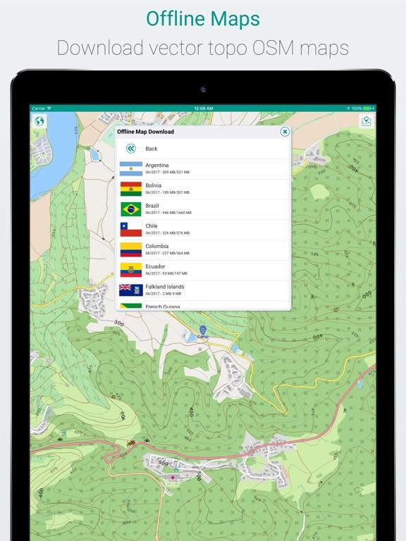 mAPP - offline mapping app iPad