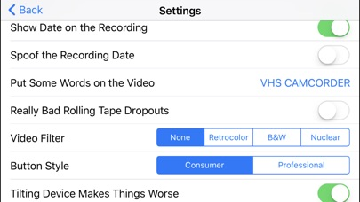 Screenshot for VHS Camcorder in United States App Store