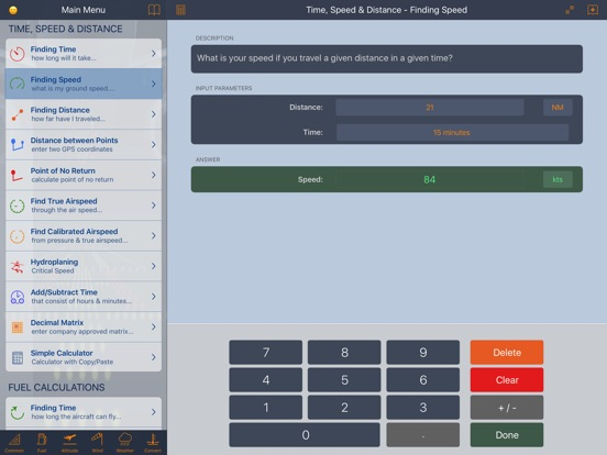 E6B Aviation Calculator Screenshots