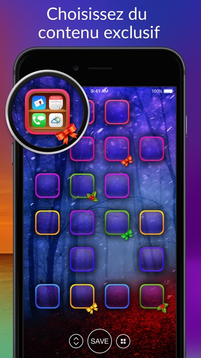 Screenshot for Tune Ton Écran - Beaux Thèmes in Lebanon App Store