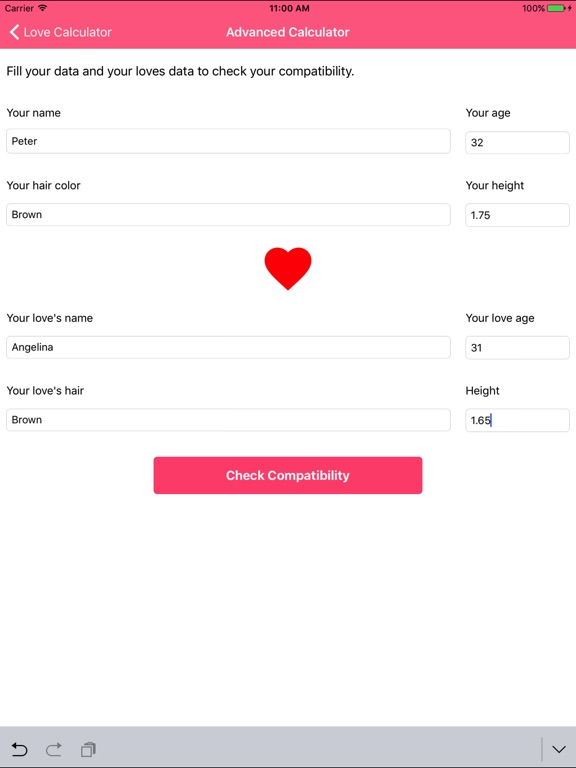 Калькулятор любви - тест Скриншоты8