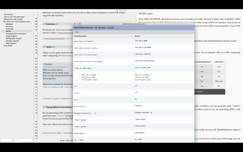 MultiMarkdown Composer 4 for Mac
