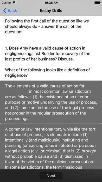 california bar essay drills on the app store iphone screenshot 4