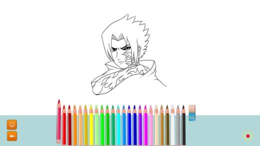 iphone screenshot 3 - Naruto Coloring Book