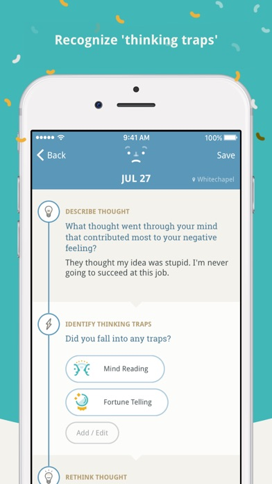 Moodnotes - Thought Journal / Mood Diary Screenshot