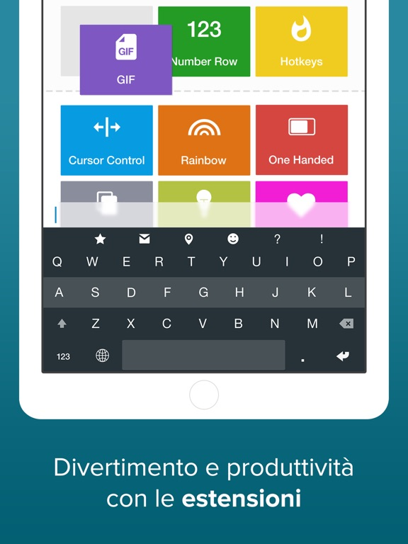 Fleksy keyboard - GIF, estensioni e temi Screenshot