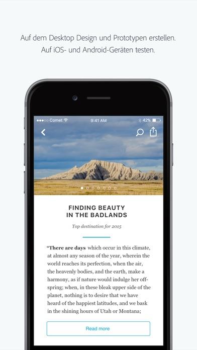 Screenshot von Adobe XD1