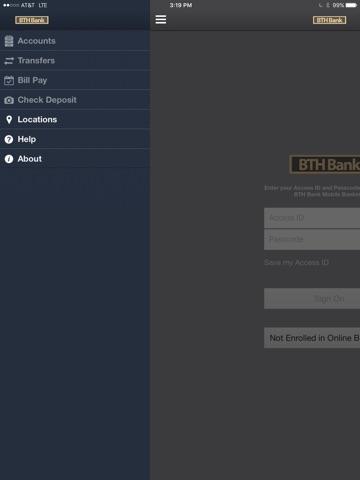 BTH Bank iPad Version screenshot 2