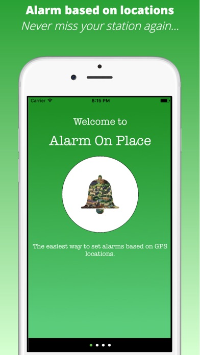 Alarm On Place - GPS / GEO Screenshot
