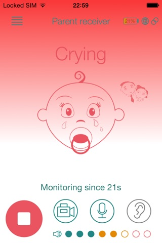 Baby Monitor Duo (VoIP) screenshot 3