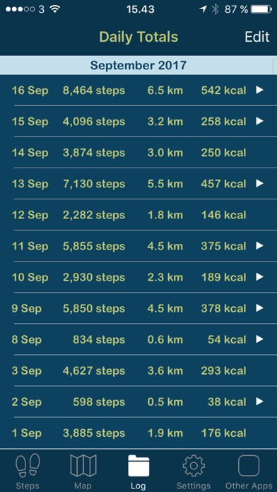 iSteps GPS Pedometer PRO screenshot three