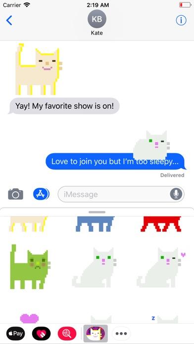 Pixel Cat Stickers Screenshot 2