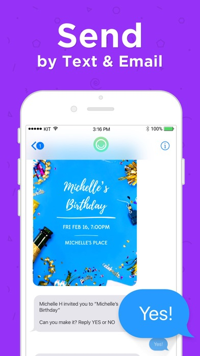 Hobnob Invitations & Text RSVP screenshot 2