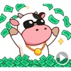 Moo the Rich Cow Stickers Apps til iPhone / iPad