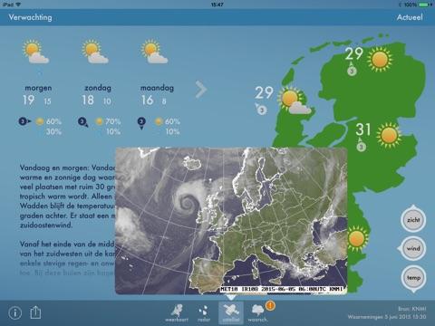 Weerbericht Nederland screenshot 2