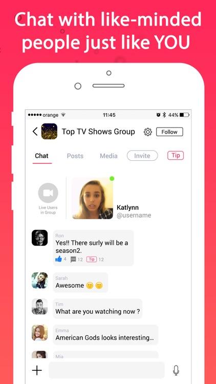 TipIt   Go Live, Chat Rooms Screenshot 1
