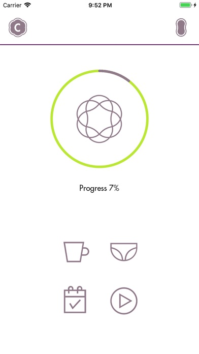 Screenshot of Carin Pelvic Floor Trainer App