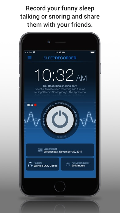 Prime Sleep Recorder screenshot one