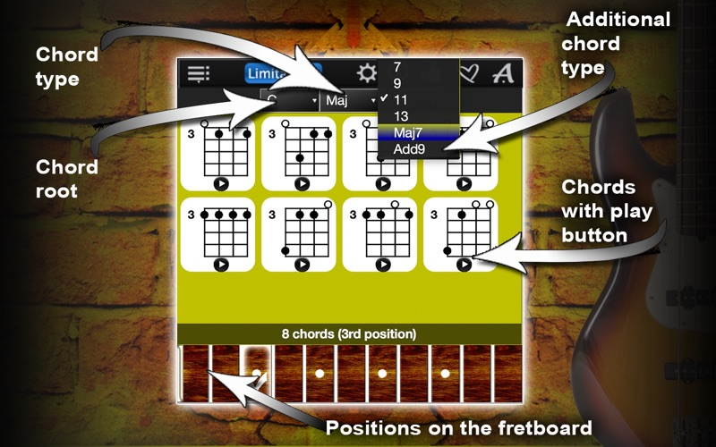 Bass Chords Compass Lite Screenshot - 2