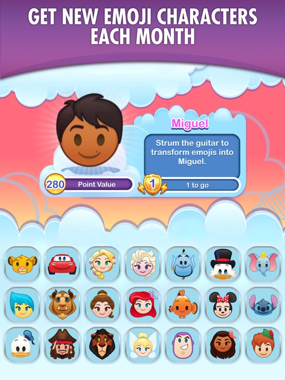 Screenshot #1 for Disney Emoji Blitz with Pixar