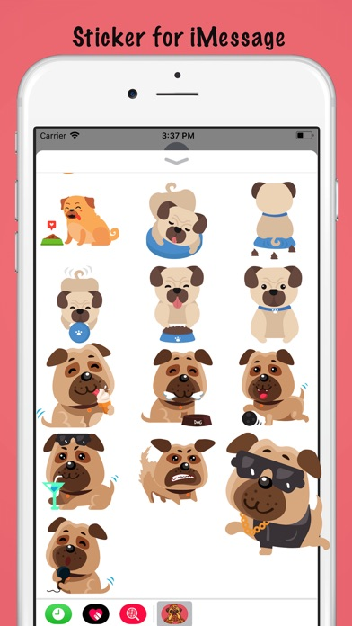 Adorable Baby Pug Sticker review screenshots