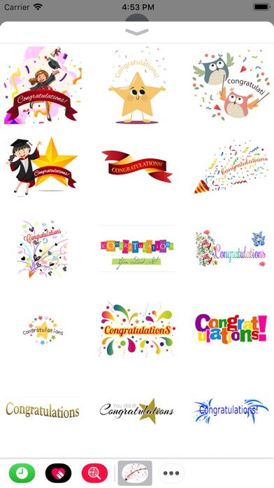 Congratulations Stickers 2018Скриншоты 5