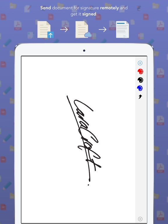 how to add electronic signature to pdf on iphone