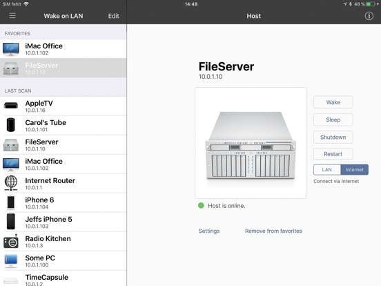 iNet for iPad Network Scanner Screenshots