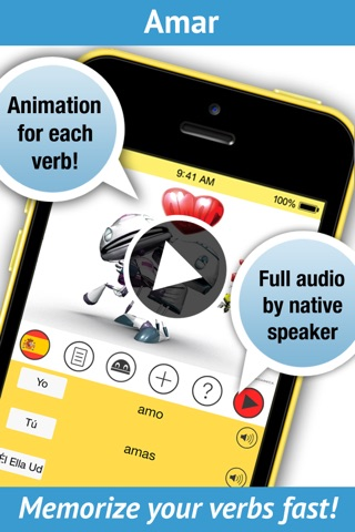 Spanish Verbs - LearnBots screenshot 1
