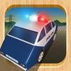 警察の車の交通チェイス